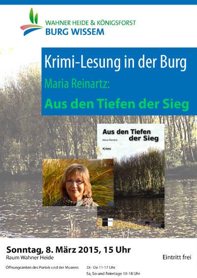 Plakat Lesung in der Burg Wissem